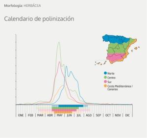 calendario polinización en España
